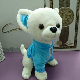 Игрушка Собака Чихуашечка мягкая в голубом плаще (DM22003KZ)