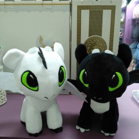 Мягкая игрушка Дракон черный, белая Дракоша (DM220071KZ)