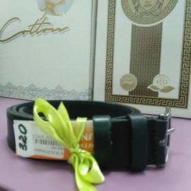 Подростковый черный кожаный ремень узкий 3 см классика  (DM4124KR)