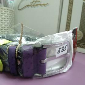 Фиолетовый сиреневый кожаный ремень 3,5 см  (DM4133KR)