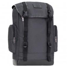Большой туристический вместительный спортивный рюкзак для ноутбука 25 л чёрный (DM00179169BL)