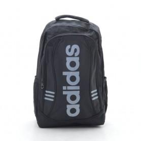 Рюкзак спортивный черный Adidas с тремя серыми полосами (DM096CL)