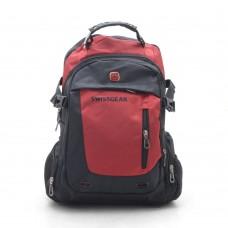 Рюкзак красно-черный спортивный повседневный  (DM1783CL)