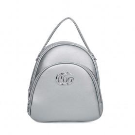 Рюкзак серебристый белый небольшой для девушки  (DMQN-1236CL)