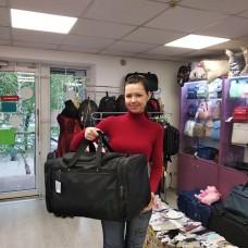 Спортивная дорожная сумка 56 литров черная прямоугольная мужская и женская (DM003257135BL)