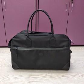 Сумка дорожная стильная с кожаными ручками 36 л черная (DM0033066BL)
