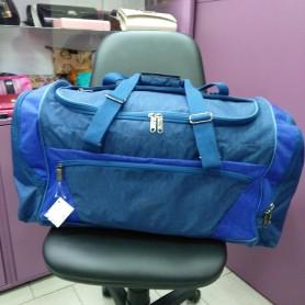 Большая спортивная вместительная сумка 70 л синяя со вставками электрик (DM0035270BL)