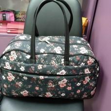 Дорожная женская сумка 34 л черная Мелкие цветы (DM00390664BL)