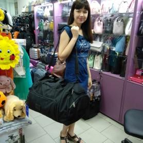 Большая спортивная дорожная сумка 81 л черная с карманом для очков (DM0090566BL)