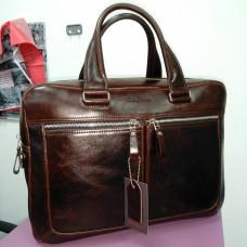 Деловая коричневая кожаная сумка мужская портфель (DMB260102IH)