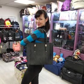Женская сумка черная квадратная средняя (DMBH90713CL)