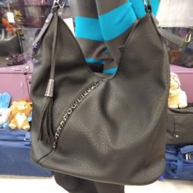 Женская сумка черная мягкая мешок средняя (DMBH90714CL)