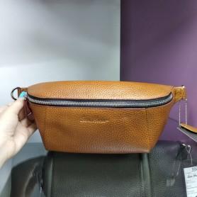 Мужская коричневая сумка на пояс из натуральной кожи (DMBT1-0514-00IH)