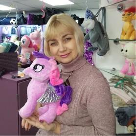 Мягкая игрушка Единорог розовый с крыльями  (DM2200131KZ)