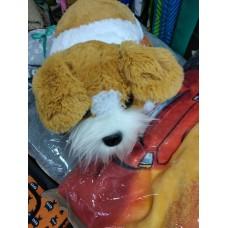 Мягкая игрушка - подушка раскладушка Собака Барсик бело- рыжий (DM220016KR)