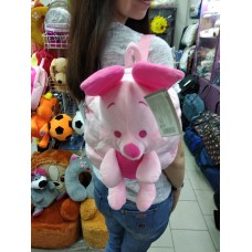 Рюкзак-игрушка для малышей мягкий розовый Свинка  (DM24423-02lB)