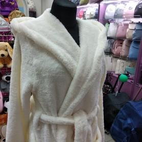 Махровый халат белый женский  (DM2200523IT)