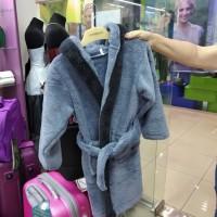 Махровый халат серый детский (DM22005242IT)