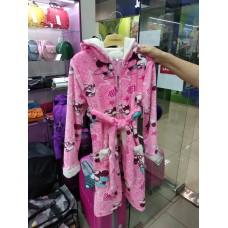 Теплый мягкий халат Микки-Маус детский розовый (DM22005244IT)