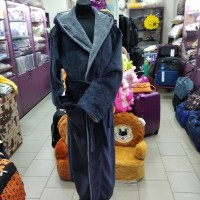 Махровый халат серый мужской Турция (DM2200531IT)