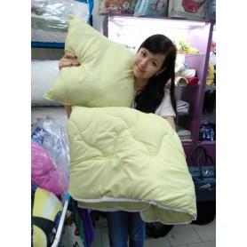 Одеяло детское силиконовое однотонное оливки салатовое + подушка 110*140 см  (DM2900KR)