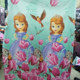 Постельное бельё детское для девочки розовое бирюзовое Принцесса София 150*220 хлопок (DM685611KR)