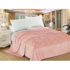 Плед велсофт с тиснением 200х220 см персиковый розовый (DMJH1707TT)