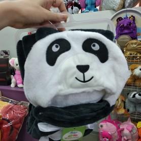 Плед детский с уголком черно-белый Панда (DM201446OZ)