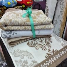 Банное полотенце бежевое хлопок Турция (DM5090112DM)