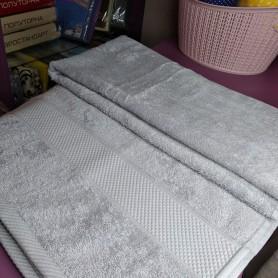 Большое серое махровое турецкое полотенце 100 * 150 см для бани, сауны хлопок Косичка (DM50901236DM)