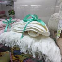 Полотенце для лица белое хлопок Турция с бахромой  (DM5090124DM)