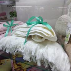 Банное полотенце белое хлопок Турция с бахромой  (DM5090122DM)