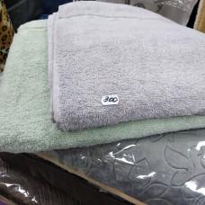 Банное полотенце светло серое, нежно салатное хлопок Турция недорогое  (DM5090124DM)