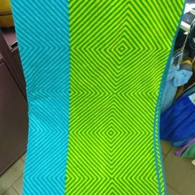 Полотенце пляж велюр хлопок Турция 3D голубое (DM50901312DM)