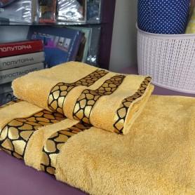 Банное полотенце оранжевое горчичное Бамбук Турция (DM5090135DM)