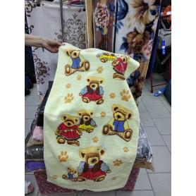 Полотенце желтое, голубое, салатовое Мишки хлопок (DM5090138DM)