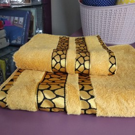 Набор оранжевых горчичных бамбуковых полотенец Черепашка Турция (DM5090141DM)