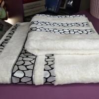 Набор белых бамбуковых полотенец Черепашка Турция (DM5090142DM)