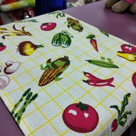 Кухонное полотенце вафельное Овощи (DM509041DM)