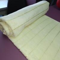 Супермягкое полотенце для тела 70*140 см махра хлопок светло-желтое с надписью Sport в полоску Турция (DM70140200DM)