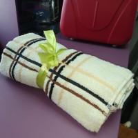Махровое банное полотенце для тела 70*140 см хлопок в клетку Турция (DM70140202DM)