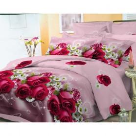 Постельное бельё полуторное 150*220 см бязь розовое Цветочное настроение (DM11290KR)