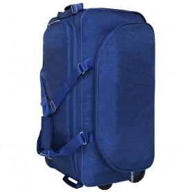 Большая сумка дорожная на колесах 82 л синяя (DM0036470BL)