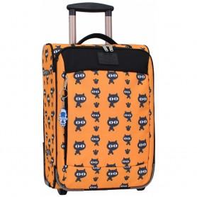 Чемодан оранжевый 32 л Черные коты - ручная кладь (DM0037666194BL)