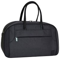 Дорожная сумка с кожаными ручками 34 л серая (DM0039066BL)