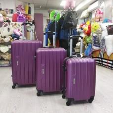 Набор дорожных сиреневых пластиковых чемоданов 3 в 1 - маленький, средний и большой (DM10142100BR)