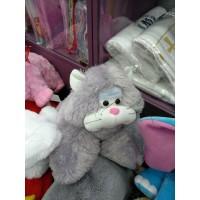 Мягкая игрушка - подушка раскладушка Кошка серая  (DM220016KR)