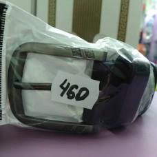 Черный кожаный ремень 3,5 см классика, длина 128 см  (DM4137KR)