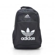 Рюкзак Adidas черный спортивный повседневный с белыми буквами (DM3CL)