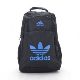 Рюкзак Adidas черный спортивный повседневный с синими буквами (DM3CL)